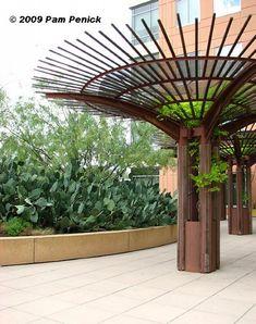 Umbrella Trellises Unique Idea for Spreading Small Plants