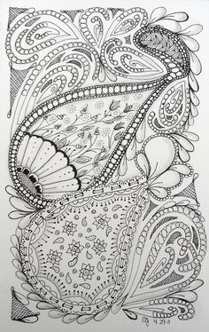 never tire of these wonderful zentangles