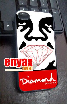 obey diamond supply    iPhone 4/4s/5/5c/5s Case  by enyaxbabe, $13.55