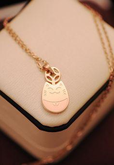 Kawaii Cat Necklace, Totoro Necklace, Japanese Lucky Cat Pendant Necklace, Cute Animal Necklace, Pink Gold Kitty Cat Necklace, Maneki Neko on Etsy, $24.80