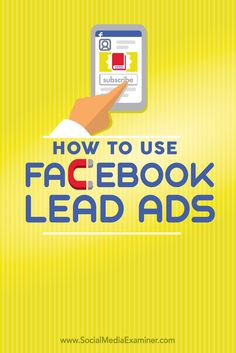 how to use facebook lead ads