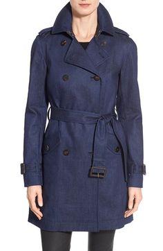 Diane von Furstenberg 'Grace' Denim Trench Coat available at #Nordstrom