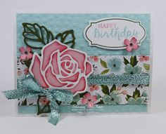 Stampin Up Rose Wonder card by Kristi @ www.stampingwithkristi.comi