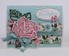 Stampin Up Rose Wonder card by Kristi @ www.stampingwithkristi.comi