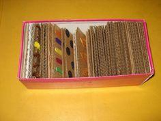 Opdracht 6b: verzameling aanleggen van textuurkaartjes voor het werken met kleuters