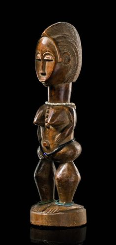 "Africa | Standing female figure ""blolo bla"" from the Baule people of the Ivory Coast 