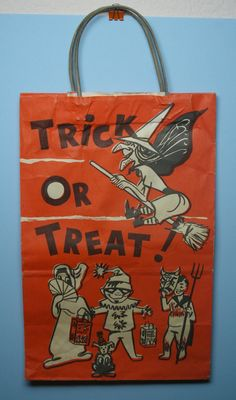 Vintage Trick or Treat bag