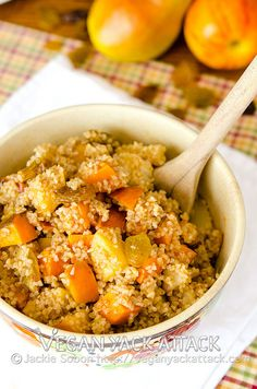 #Vegan Roasted Fruit Bulgur Wheat Salad. Perfect for #Thanksgiving!