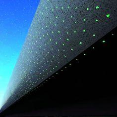 Béton poli phosphorescent