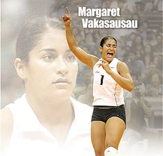 """""""Everything she touches seems to turn out great,"""" UH volleyball coach Dave Shoji says of Margaret Vakasausau."""