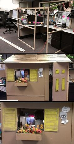 If i ever end up in a cubicle...I will build me a house cubicle!