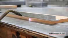 ePlastics® shows the ideal way to flame polish acrylic sheet by first milling the edges, and then using a hydrogen-oxygen torch. Feel free to leave questions. Woodworking Planes, Woodworking Projects, Welding Projects, Diy Projects, Plastic Company, How To Make Crystals, Diy Aquarium, Before And After Diy, Diy