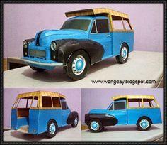 1968 Oplet Van Free Vehicle Paper Model Download - http://www.papercraftsquare.com/1968-oplet-van-free-vehicle-paper-model-download.html