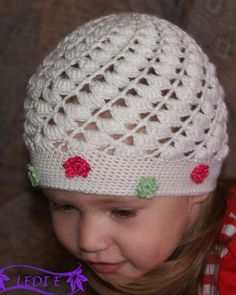 beautiful hat for little girls, free crochet patterns - crafts ideas - crafts for kids
