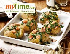 Rezeptfinder Backkartoffeln mit Lachs-Spinat-Füllung