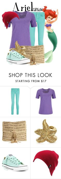 """""""Ariel"""" by tallybow ❤ liked on Polyvore featuring J Brand, Dash, Skemo, Roberto Cavalli, Converse, Volcom, women's clothing, women's fashion, women and female"""