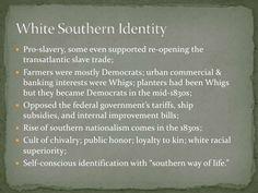 (1820-1860) White Southern Identity in Antebellum America