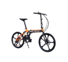 Brand New 2016 TP-023 Orange Black 7 Speeds Super Light Aluminum Frame 5 Spokes Mini Folding Bike Bicycle 20 in with Disc Brakes Soft Tail. Suspension Frame. Shimano 7 Speeds. Mini Folding. 5 Spokes Wheelset. New Red High Fashion.