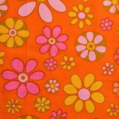 modflowers: vintage Finnish fabric by Raili Konttinen, 1964-66