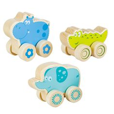 Nature Buddies Wooden Rollers and thousands more of the very best toys at Fat Brain Toys. Little ones will love exploring the unique contours of each animal, admire the vibrant colors and smiling faces, watch the wheels spin around and around, and let their imaginations run free. Choose either the crocodile, elephant, or hippopotamus!