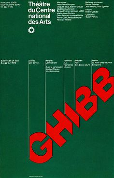 Canadian Graphic Design 42    Theater poster designed by Gottschalk+Ash, Montreal, Canada before 1972.