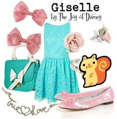 Mint Lace Outfit. Pink Flat Shoes.