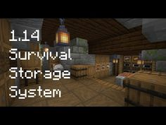 How to build a 1.14 Starter Survival Storage System: Wine Cellar with Barrels! - YouTube Minecraft Storage, Thing 1, Barrels, Wine Cellar, Survival, Entertaining, Building, Bedroom Ideas, Youtube