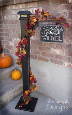Fall Porch Sign Post ~ tutorial!
