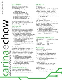 A lot of the non-standard resume designs on this page are chaotic and difficult to read. This one is simple and clean while still being eye-catching. I might try to do my own version. Basic Resume, Free Resume, Resume Design Template, Design Resume, Cv Design, Find Friends, When I Grow Up, Creative Resume, Computer Science