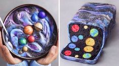 Satisfying GALAXY Cakes Compilation of Delicious cake recipes CAKE decorating teacher . Cake Decorating Techniques, Cake Decorating Tutorials, Decorating Ideas, Delicious Cake Recipes, Yummy Cakes, Mini Cakes, Cupcake Cakes, Planet Cake, Galaxy Cake