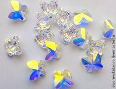 Crystal AB Butterfly Swarovski Bead