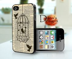 Love birds2 - iPhone 4S and iPhone 4 Hard Plastic Black or White Case. $15.99, via Etsy.