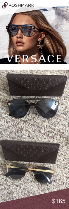 Versace 2161 Authentic Versace sunglasses model 2161 in gold. Amazing condition. Worn once..unfortunately they don't work for my face. Will be shipped with authentic Gucci case Versace Accessories Sunglasses