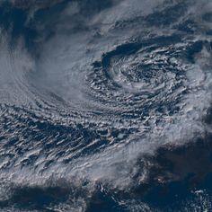秋田沖に出現した「ポーラーロウ」(2月11日午前9時,ひまわり8号)ひまわり8号リアルタイムWeb - NICT