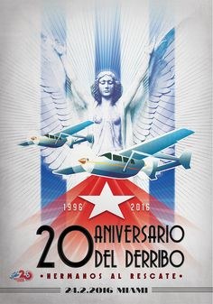 Diseño de poster para el 20 Aniversario de Hermanos al Rescate Miami.