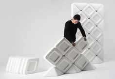 Eco Acoustic Partition from Recycled Fiber