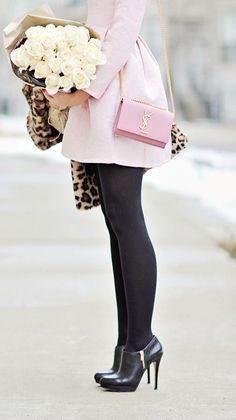#winter #fashion / pink coat