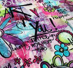 my graffiti floor cloth!  I will be teaching this at 2 events (Art Is You in Petaluma Ca and Stamford Ct this year).