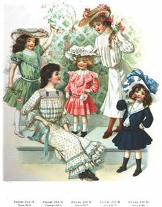 Edwardian Era Children's Clothing - June 1903 The Delineator - Romantic Era Clothing 1900s Fashion, Edwardian Fashion, Vintage Fashion, Edwardian Clothing, Edwardian Era, Vintage Outfits, Vintage Dresses, Historical Costume, Historical Clothing