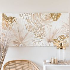 Tropical Foliage Print Canvas 120 x 60 Panoramic Leaves Tropical House Design, Tropical Home Decor, Tropical Interior, Tropical Houses, Tropical Colors, Tropical Furniture, Oil Painting Flowers, Canvas Prints, Wallpaper