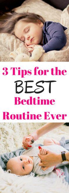 3 Mom Hacks for an Easy Bedtime Routine. Sleeping through the night. Nighttime routine for kids #momhacks