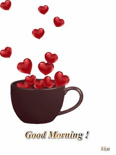 "Photo from album ""Valentine's Day / День святого Валентина"" on Yandex. Love Heart Images, I Love Heart, Morning Love, Good Morning Coffee, Morning Kisses, Morning Gif, Morning Quotes, Heart Wallpaper, Love Wallpaper"
