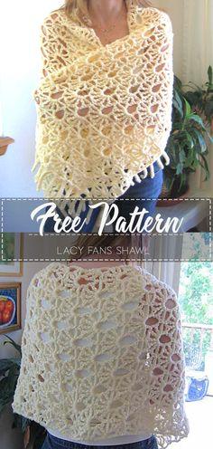 Pocket Scarf Shawl Free Crochet Pattern & Paid - knowing Crochet Prayer Shawls, Crochet Shawl Free, Crochet Wrap Pattern, Crochet Shawls And Wraps, Crochet Scarves, Crochet Clothes, Crochet Stitches, Knit Crochet, Shawl Patterns