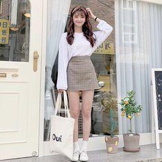 Korean Outfit Street Styles, Korean Street Fashion, Korea Fashion, Korean Outfits, Daily Fashion, Korean Style, Uni Outfits, Date Outfits, Outfits For Teens