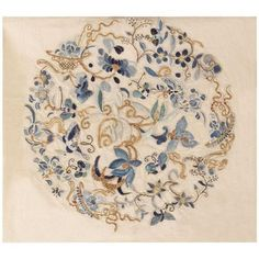 View this beautiful antique Chinese Embroidery textile 46184 from Nazmiyal's fine antique rugs and decorative carpet collection in NYC. Chinese Embroidery, Hand Embroidery Patterns, Embroidery Art, Embroidery Stitches, Machine Embroidery, Embroidery Designs, Sashiko Embroidery, Embroidery Scissors, Embroidery Supplies