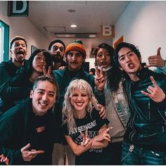 Paramore backstage at Zepp Tokyo with Survive Said The Prophet - Hayley Paramore, Paramore Hayley Williams, Indie, Taylor York, We Dont Talk, Shes Perfect, Music Love, Hunger Games, Cool Bands
