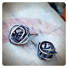 Sterling Silver Knot Post Earrings by jenjems on Etsy, $28.00