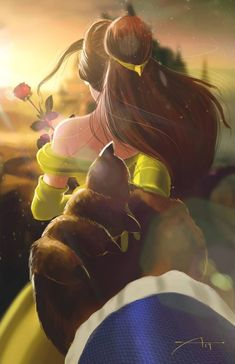 Beauty and the Beast by Oz-Guy on DeviantArt Lead the way by Source by and the beast Disney Princess Drawings, Disney Princess Art, Disney Fan Art, Disney Drawings, Anime Princess, Disney Belle, Disney Tangled, Disney Films, Disney Cartoons
