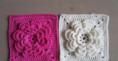 Trendy Ideas For Crochet Granny Square Flower Cushion Covers Diy Crochet And Knitting, Crochet Motifs, Crochet Blocks, Crochet Squares, Crochet Home, Irish Crochet, Crochet Stitches, Free Crochet, Granny Squares