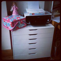 evajeanie and the sewing machiney - new storage